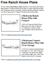 Ranch House Plans Image
