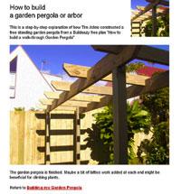 Garden Pergola Plan Image