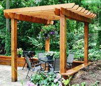 Build a Garden Pergola Image