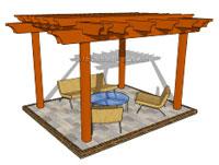 Building a Wooden Pergola Image