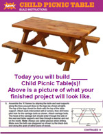Kids Picnic Table Plans | How to Build a Kids Picnic Table
