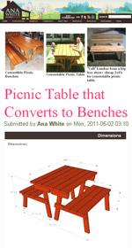Free Folding Picnic Table Plans | Portable Picnic Table Plans