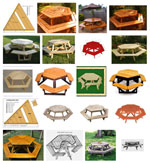 Build an Outdoor Hexagon Picnic Table