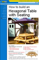 Hexagon picnic table plans how to build a hexagonal picnic table hexagonal picnic table plans with video watchthetrailerfo