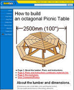 plans to build octagon picnic table