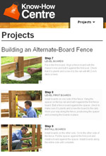 Building an Alternate Board Privacy Fence Photo