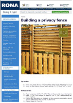 Building a Privacy Fence Image