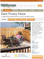 Deck Privacy Screen Image