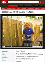 How to Build a Dog Ear Privacy Fence Video Photo