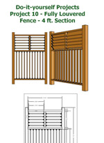 Fully Louvered Privacy Fence Photo