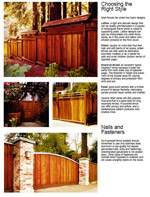 Redwood Privacy Fence Designs Photo