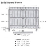 Wood Fence Design Drawings