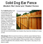 Solid Dog Ear Privacy Design Photo