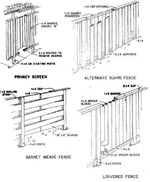 wood fence designs plans