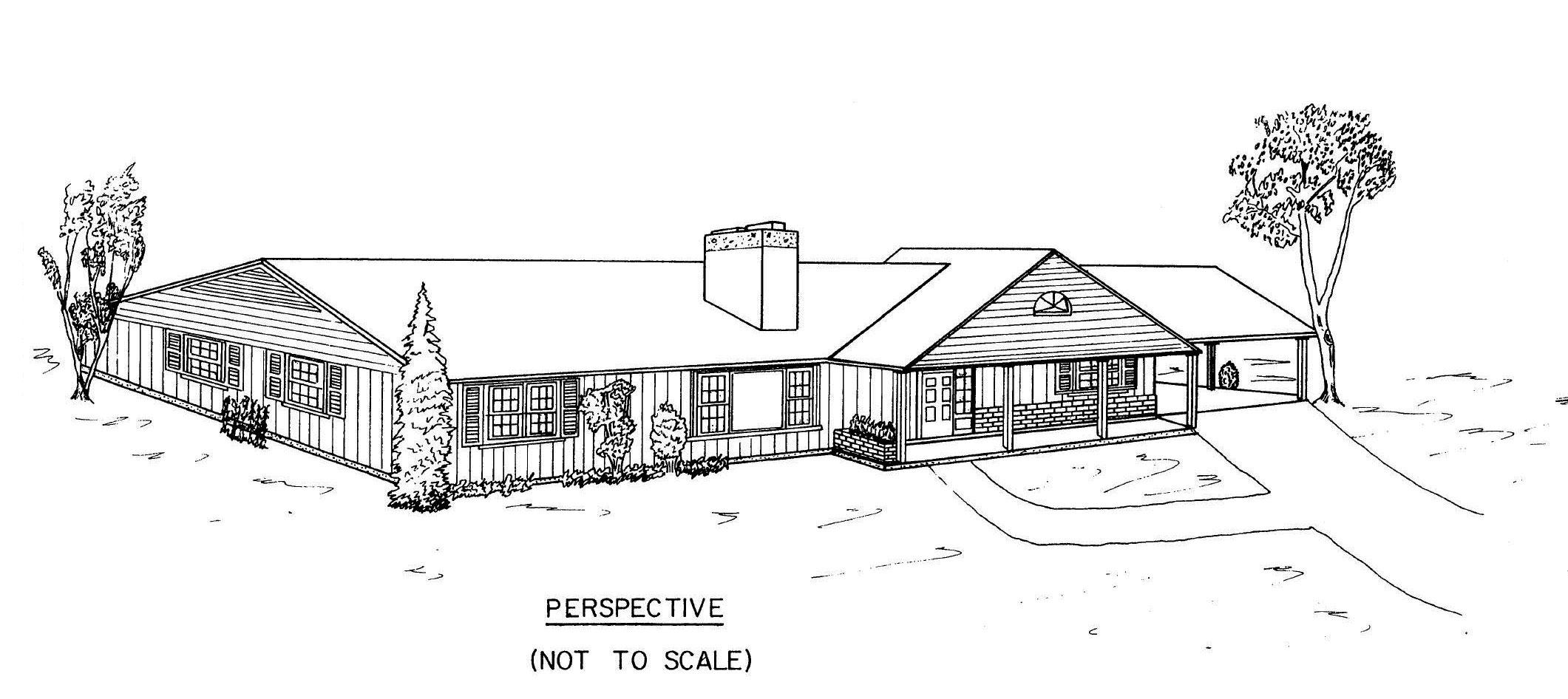 Free 3 bedroom ranch house plans with carport for Long ranch house plans