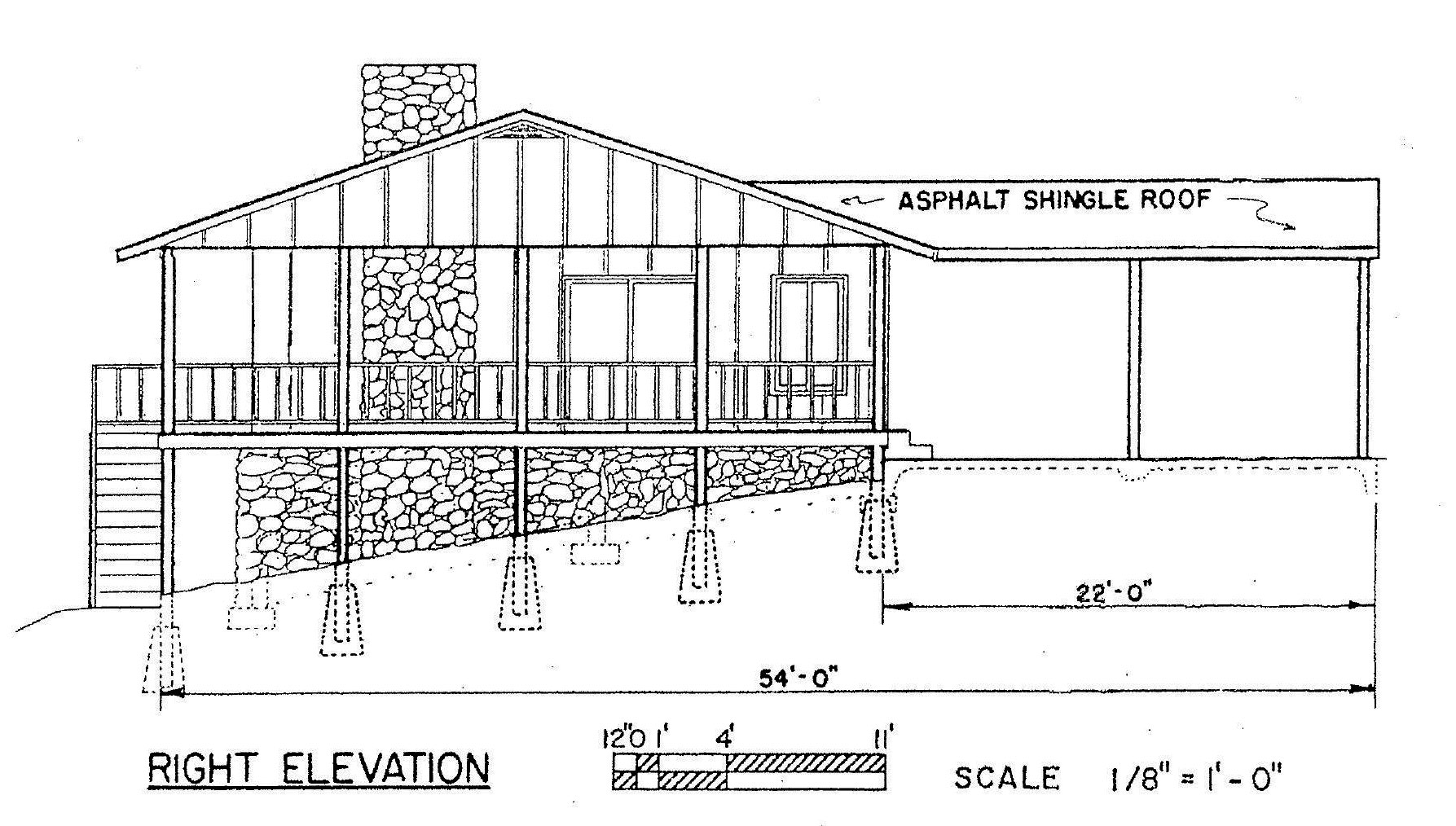 Free 3 bedroom ranch house plan with porch for sloped lot for House plans with a view