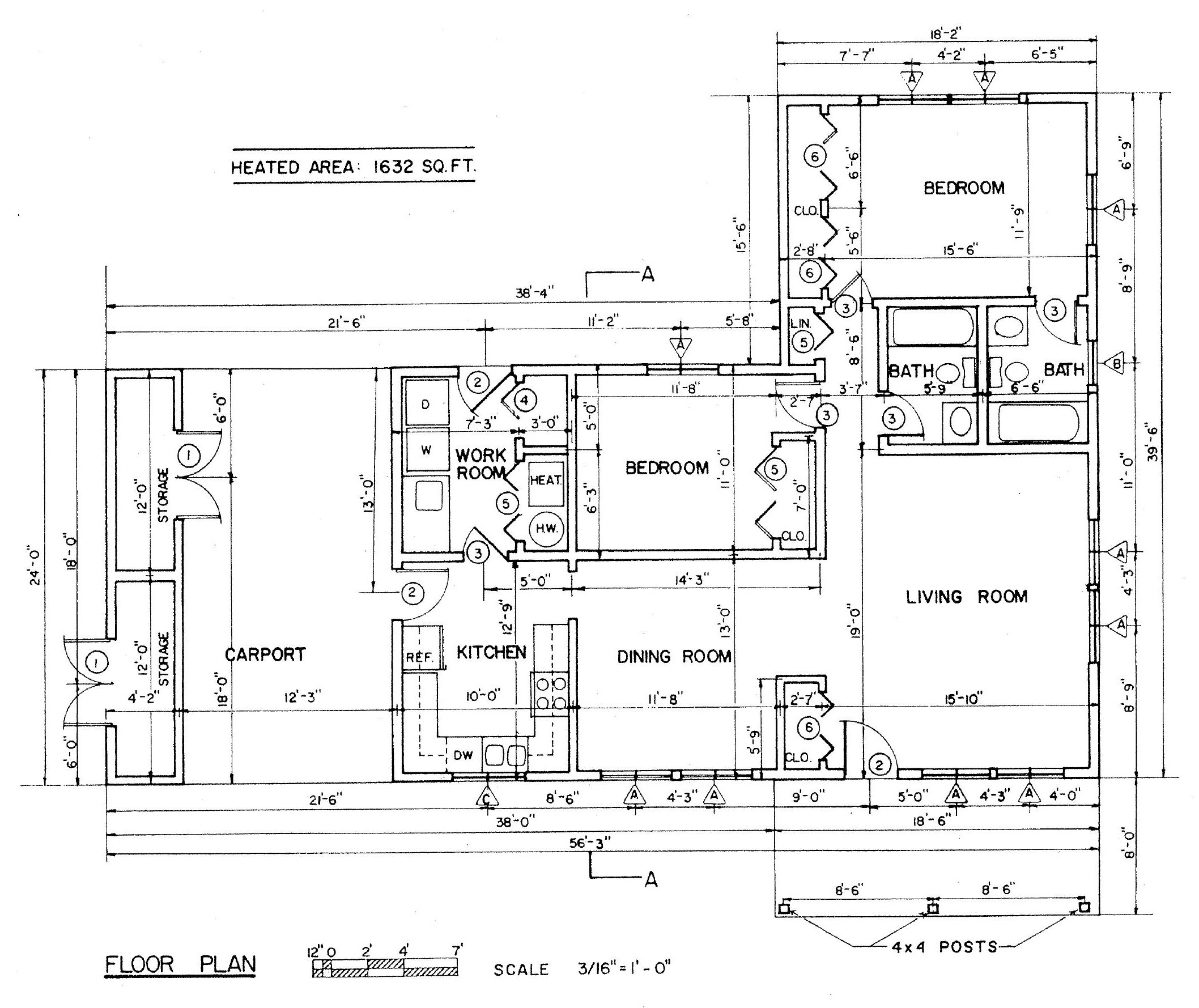 Free ranch style house plans with 2 bedrooms ranch style for Ranch style home blueprints