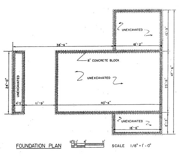 Free ranch style house plans with 2 bedrooms ranch style for Home foundation plan