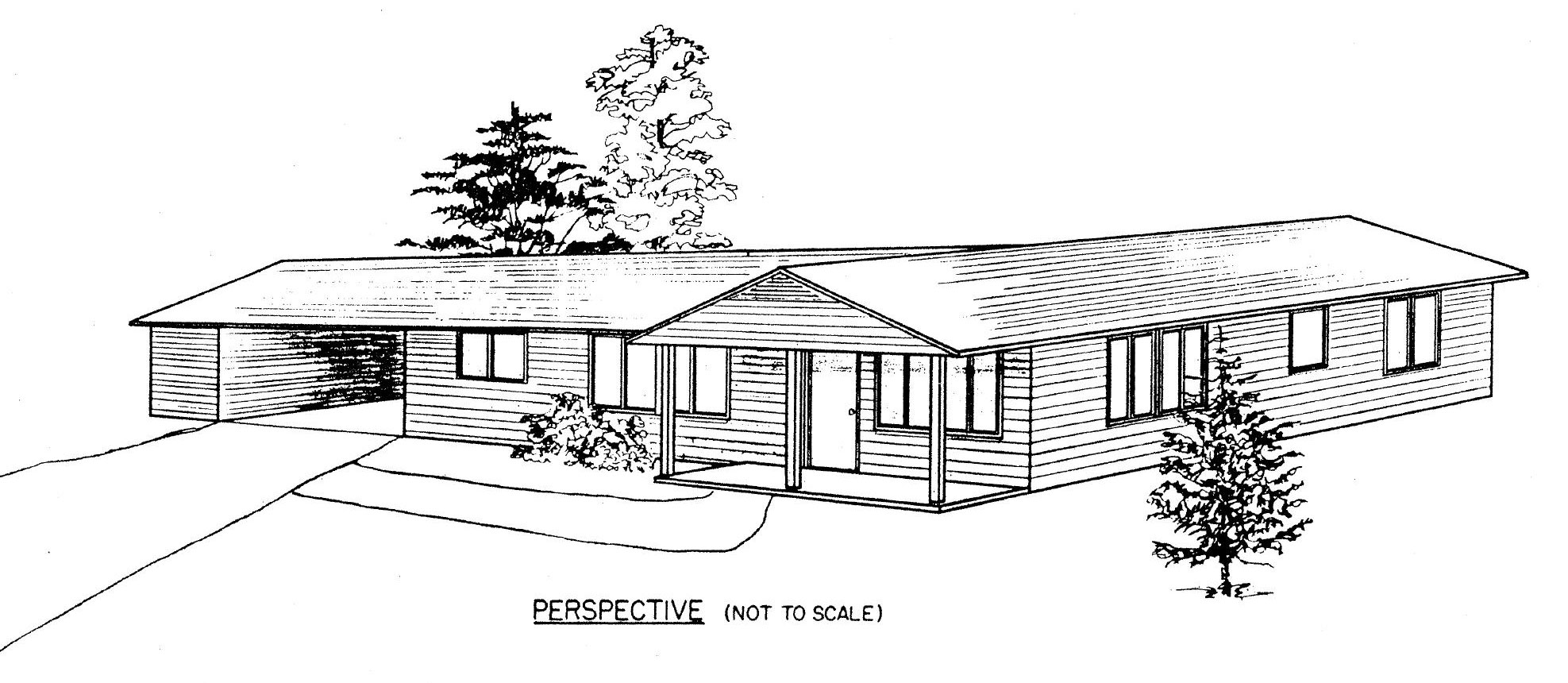 Ranch style house clipart images for Ranch house blueprints