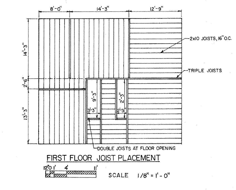 Free saltbox house plans saltbox house floor plans for Floor framing plan