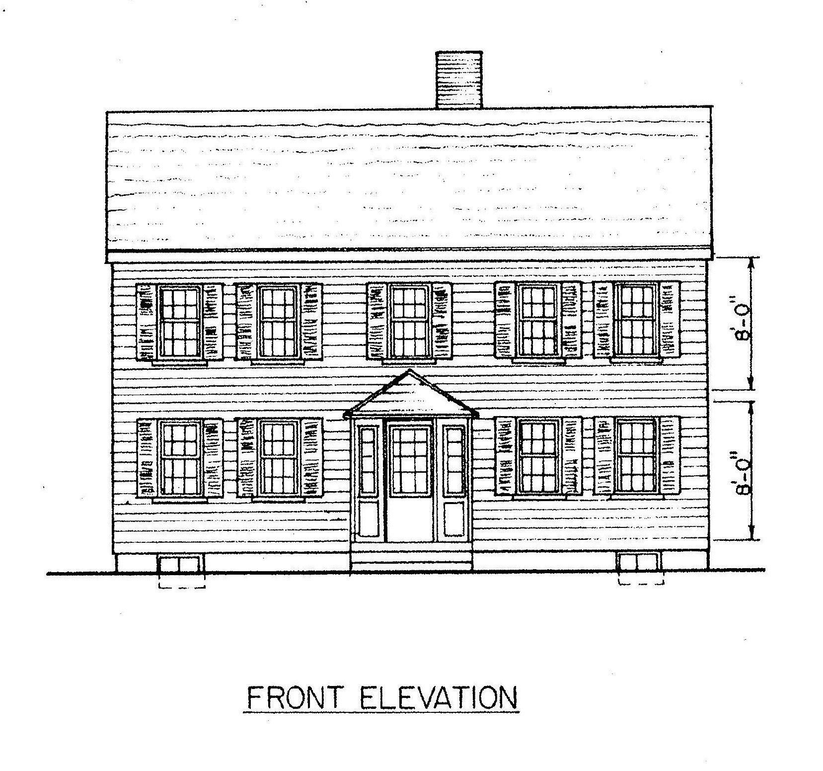 Free saltbox house plans saltbox house floor plans for Front view house plans