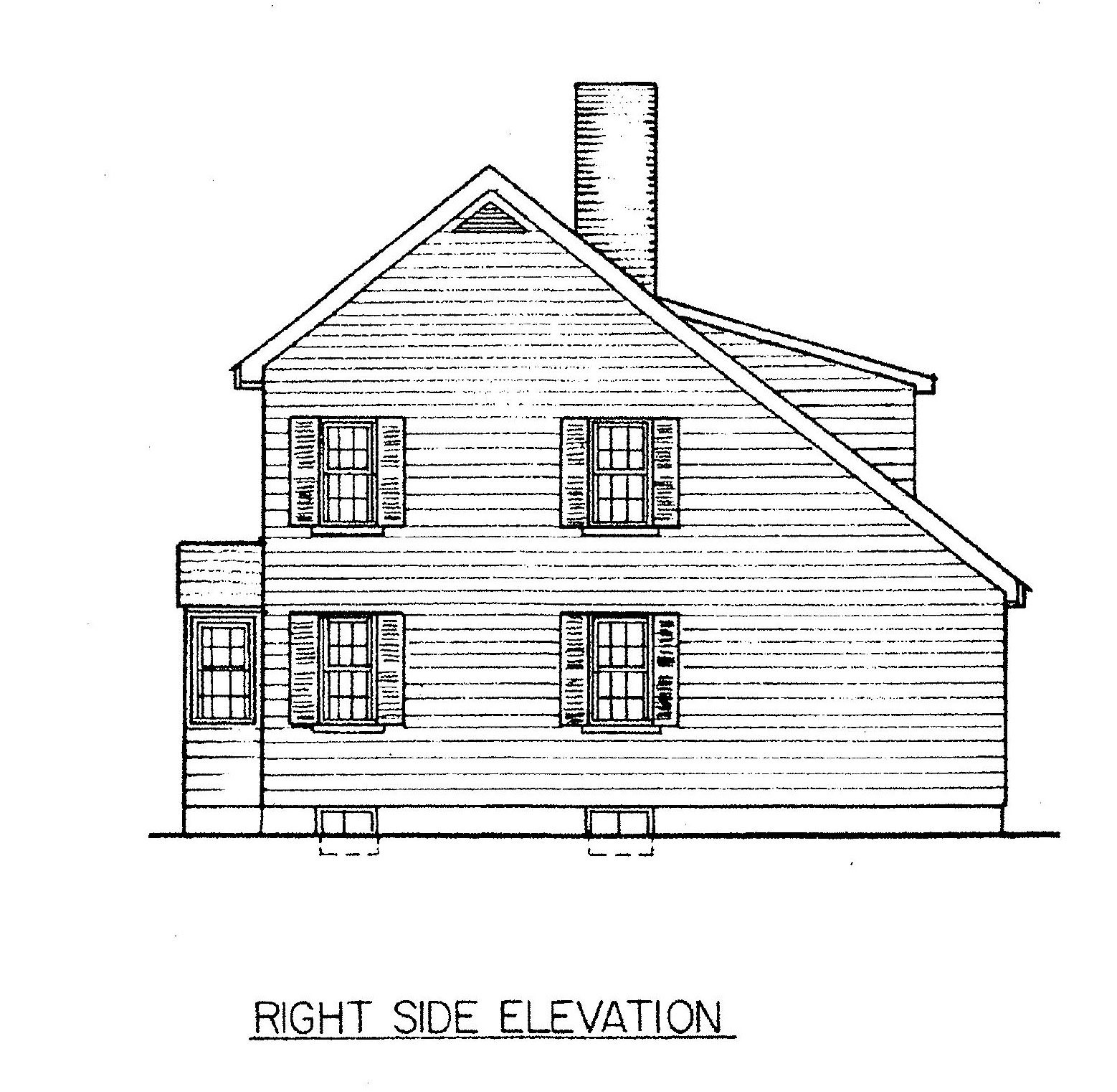 Free saltbox house plans saltbox house floor plans for Side view house plans