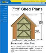 Free shed plans how to build a shed for Board and batten shed plans