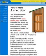 How to Make a Shed Door Image