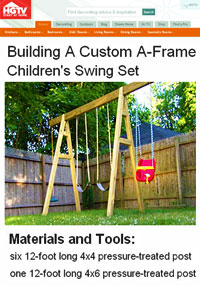 A-Frame Swing Set Plans Picture