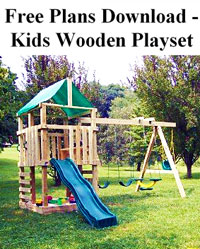 Kids Wooden Playset Plans Photo