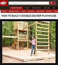 Build a Swing Set with a Playhouse Picture