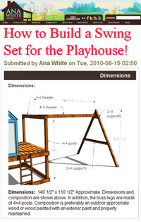 Build a Swing Set for a Playset Picture