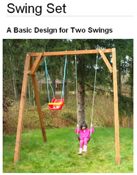 swing set plans photo