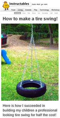 How To Build A Frame For A Tire Swing