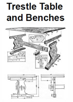 trestle table and benches this trestle table project is in