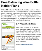 Free wine rack plans build a wine rack - Wine bottle balancer plans ...