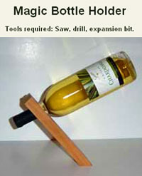 Free balancing wine bottle holder plans gravity wine bottle holder plans - Wine bottle balancer plans ...