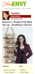 Hanging Wine Rack Plans
