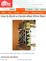 Build a Handcrafted Winerack