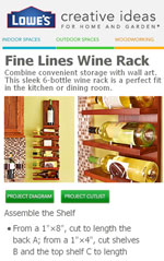 Sleek 6 Bottle Wall Winerack Plans