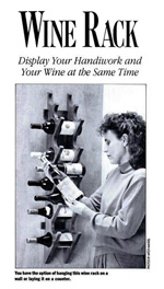Wall Mounted Wine Rack Design