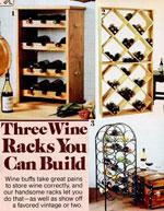 3 Wine Rack Plans