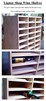 Wine Store Wineshelf Plans